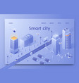 written smart city isometric vector image
