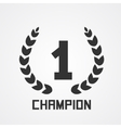 Laurel wreath for champion vector image