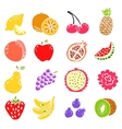 set of doodle hand drawn fruit icon vector image