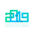 2019 happy new year congratulation origami paper vector image vector image
