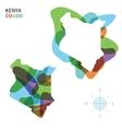 Abstract color map of Kenya vector image vector image