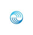 abstract mountain sun stripe geometric symbol logo vector image vector image