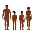 african man woman boy and girl human front side vector image vector image