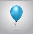 air balloon bright blue decoration with ribbon vector image vector image