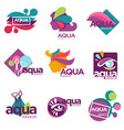 aqua makeup cosmetics brand for women to use vector image vector image
