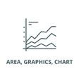 area graphics chart line icon area vector image