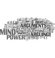 arguments steal mind power text word cloud concept vector image vector image
