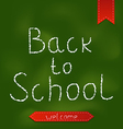 Back to school background with ribbons vector image