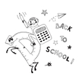 Back to school Schoolboy endearing knowledge vector image vector image