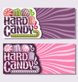 banners for hard candy vector image