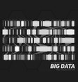 big data grayscale visualization vector image vector image