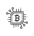 bitcoin - line design single isolated icon vector image vector image