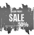 black friday design background vector image vector image