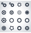 black gear icon set vector image vector image