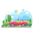 car travel flat vector image vector image