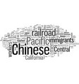 chinese immigrants and iron road vector image vector image