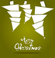 christmas and new year background vector image