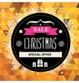 Christmas poster SaleTypography vector image