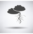 Clouds and lightning icon vector image vector image