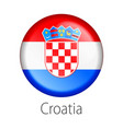 croatia round button flag vector image