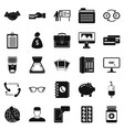 division icons set simple style vector image
