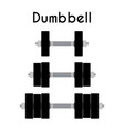 dumbbell sport equipment cartoon style vector image