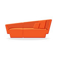 elegant couch isolated comfortable orange couch vector image vector image