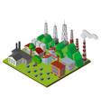 energy plants in 3d design vector image