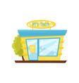 facade of pet shop store of animal goods vector image
