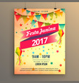 festa junina party celebration poster design with vector image vector image