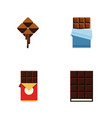 flat icon sweet set of chocolate bar bitter vector image vector image