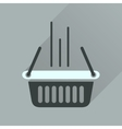 Flat icon with long shadow shopping basket vector image vector image