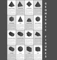 geometric figures in black vector image vector image