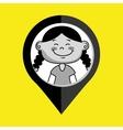 girl child kids icon vector image