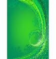 Green Abstract Christmas vector image vector image