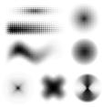 Halftone Set vector image vector image