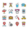 hotel and travel colored icons set 9 vector image vector image