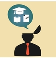 Icon person thinking about education vector image vector image