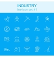 Industry icon set vector image