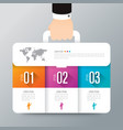 infographics design with 3 options vector image