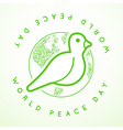International Peace Day with Dove vector image