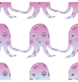 Jellyfish or octopus marine seamless pattern vector image