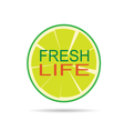 lime with message vector image vector image