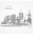linear london uk flat one line style trendy vector image