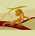 lizard on a branch comic cartoon stock vector image vector image