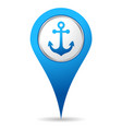 location anchor icon vector image vector image