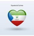 Love Equatorial Guinea symbol Heart flag icon vector image vector image
