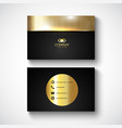 metallic design business card vector image vector image