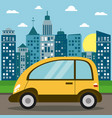 modern car transport city sun vector image