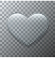 modern glass heart on sample background vector image vector image